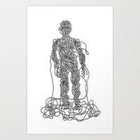 Knot Man Art Print