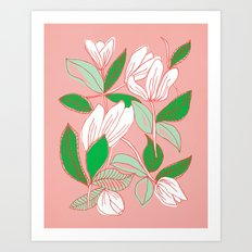 Floating Tulips Art Print