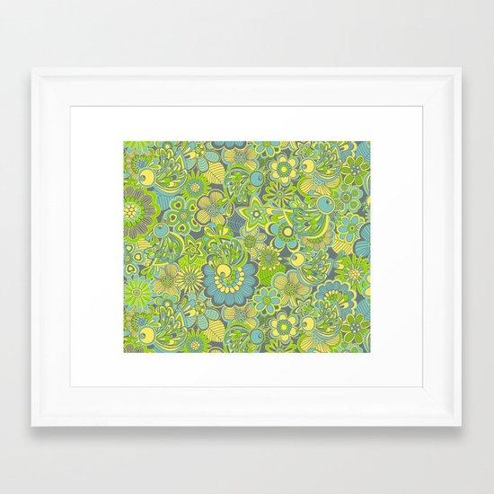 Welcome birds to...green Framed Art Print