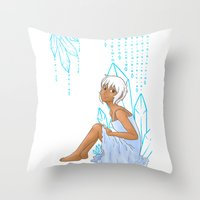 Isabelle and crystals Throw Pillow