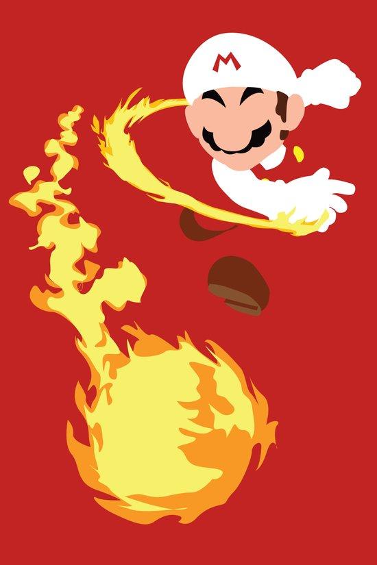 Mario - Fire Flower Mario Art Print