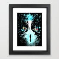 Lonely Walk Framed Art Print