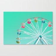 Minty Ferris Wheel Of Ha… Canvas Print