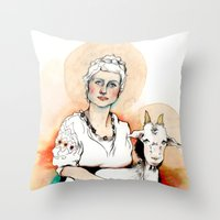 Carpicorn (Zodiac series) Throw Pillow