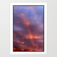 Dramatic Rainbow Art Print