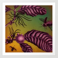 Flying Bugs Art Print