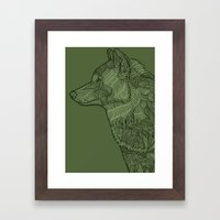 Enthusiastic Wolf Framed Art Print