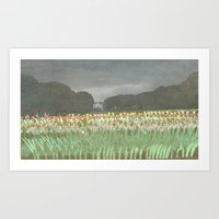 Tulip Parade Art Print