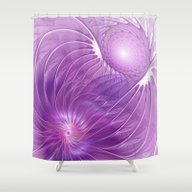 Protection, Abstract Fra… Shower Curtain