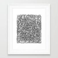Squigg Block Framed Art Print