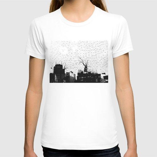 NYC splatterscape T-shirt