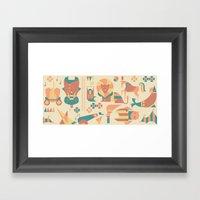 Animals' Circus Framed Art Print