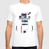 R2D2 Abstract Mens Fitted Tee White SMALL
