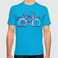 Butterfly Bicycle Mens Fitted Tee Teal SMALL