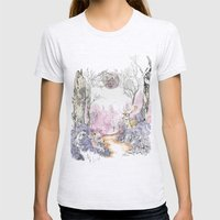 Woodland Magic Womens Fitted Tee Ash Grey SMALL
