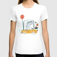 happy birthday T-shirts featuring Happy birthday! by Villie Karabatzia