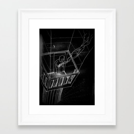 broken spirit Framed Art Print