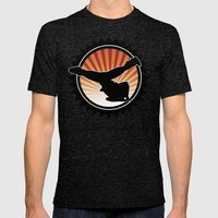BBOY Sunset Mens Fitted Tee Tri-Black SMALL