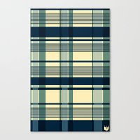 Blue Plaid Pattern Canvas Print