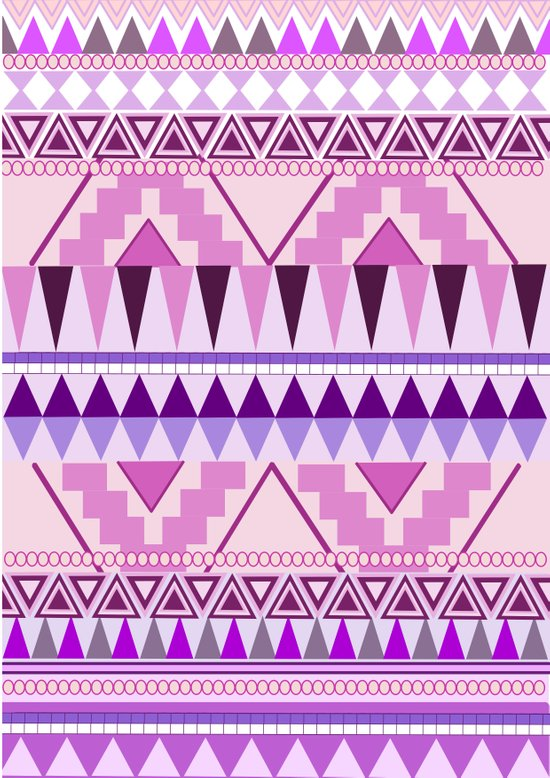 Aztec; Purple Dreams Art Print