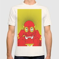 Unmask The : Flash Mens Fitted Tee Natural SMALL