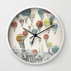 Voyages over Edinburgh Wall Clock