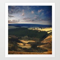 Landscape Of Exmoor Art Print