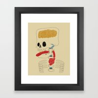 Square Skull...   Framed Art Print