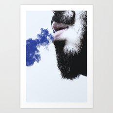 Sir blue smoke Art Print
