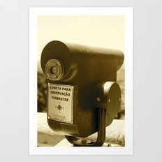 Spyglass to land observation Art Print