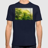 Waiting for Spring Mens Fitted Tee Navy SMALL