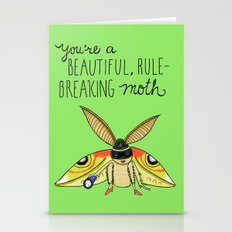 Leslie Knope Compliments: Rule-Breaking Moth Stationery Cards