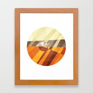 Framed Art Print featuring Earth by Anai Greog