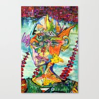 Swim Team Captain Canvas Print