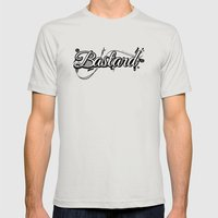 Graphic Bastard Mens Fitted Tee Silver SMALL