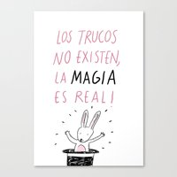 La magia Canvas Print
