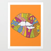 make love... Art Print