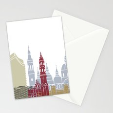 Zaragoza skyline poster Stationery Cards