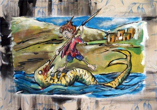 Saint George and the Dragon Art Print