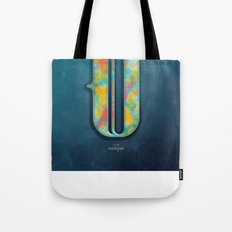 U is for Unique Tote Bag