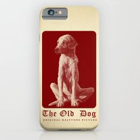 iPhone & iPod Case featuring The Old Dog Original Halftone Picture by EduardoTellez