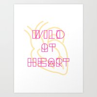 Golden Heart Art Print