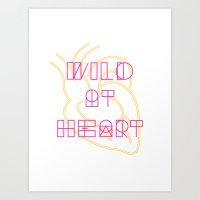 golden heart Art Print