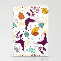 Happy Fall, Dogs! (Bosto… Stationery Cards