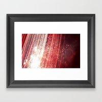 wall of red Framed Art Print