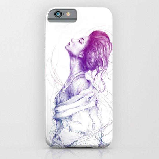 Pretty (Purple) Lady Portrait iPhone & iPod Case