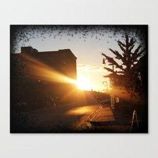 Sun Rays Grand Rapids MI Canvas Print