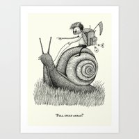 'Full Speed Ahead!' Art Print
