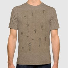 The Keys to Everything Mens Fitted Tee Tri-Coffee SMALL