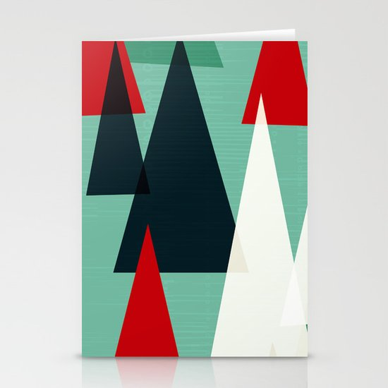 Abstract Forest by Friztin Stationery Card